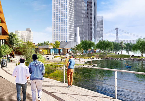 New York mixed-use waterfront development